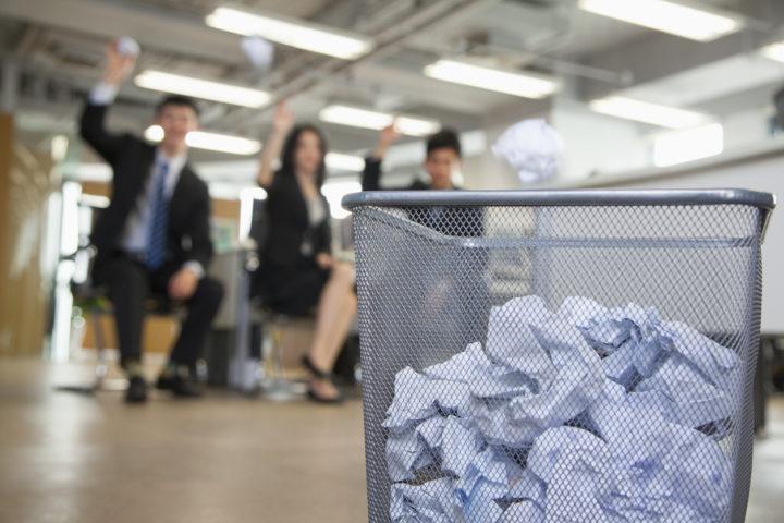 recycleren op kantoor