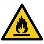 Brandgevaarlijke stoffen volgens ISO 7010