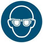 Veiligheidsbril verplicht