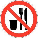 Verboden eten en drinken